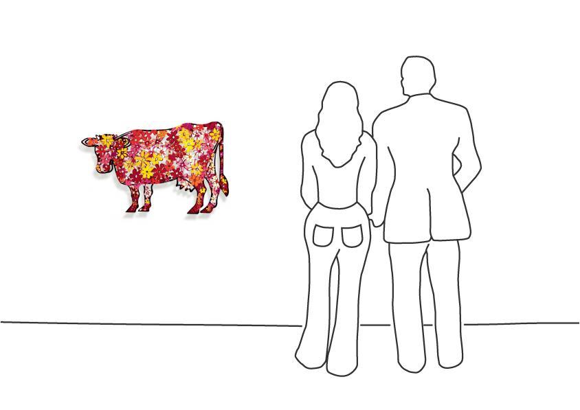"""David Gerstein """"Cow – Floral """""""