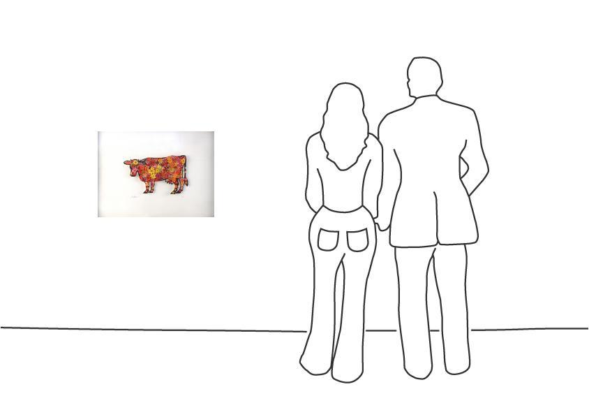 "David Gerstein ""Floral Cow (Papercut)"""