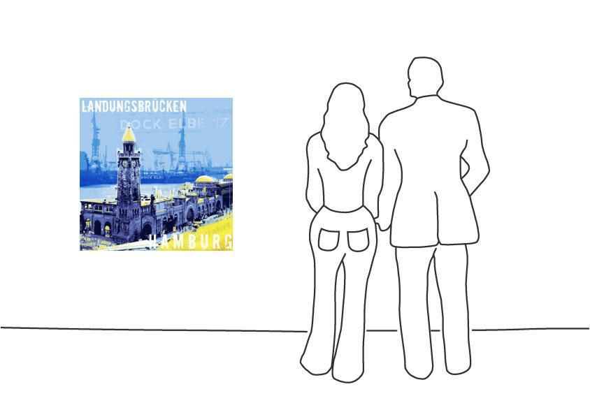 """Fritz Art """"Hamburg Landungsbrücken"""""""