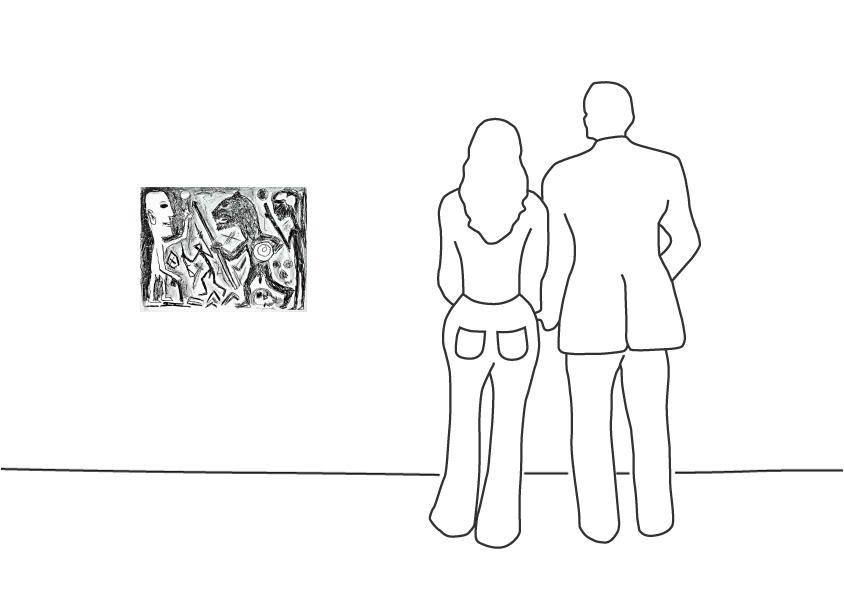 "A. R. Penck ""Homer u. Aristoteles, 1 Blatt (3)"""