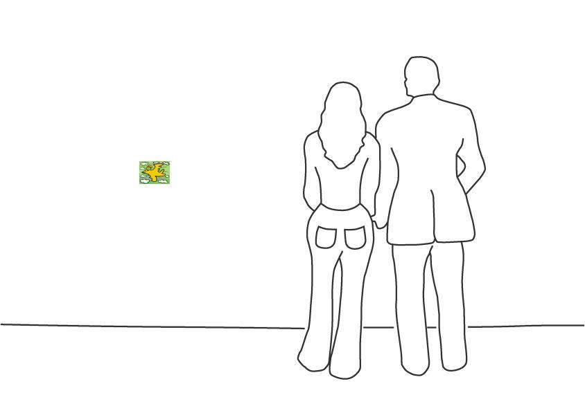 """James Rizzi """"Rizzi Bird (Yellow on green)"""""""