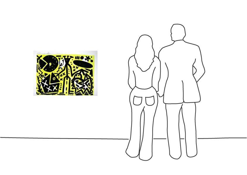 """A. R. Penck """"Lausanne 5 Zentrale Figur"""""""