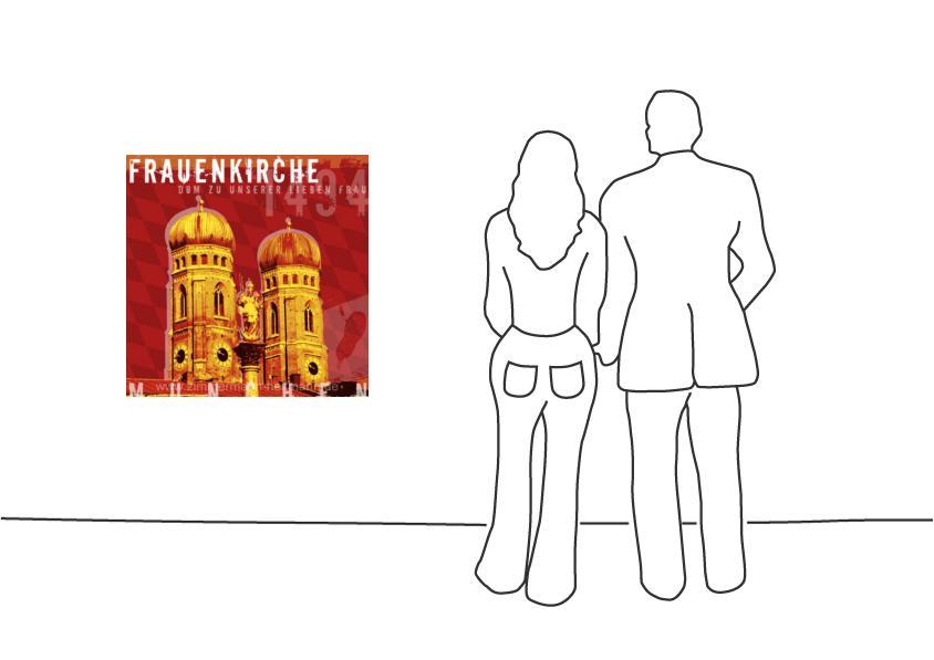 """Fritz Art """"München Frauenkirche"""""""