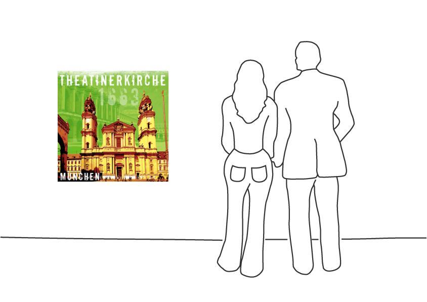 """Fritz Art """"München Theatrinerkirche"""""""