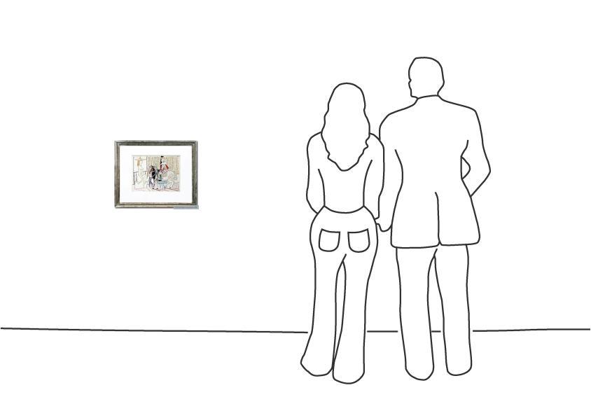 """Pablo Picasso """"Maler und Modell II"""""""