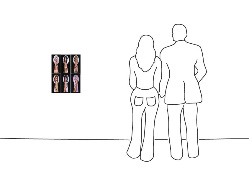 "Mel Ramos ""Vintage Peek-a-Boo Portfolio 2015"""