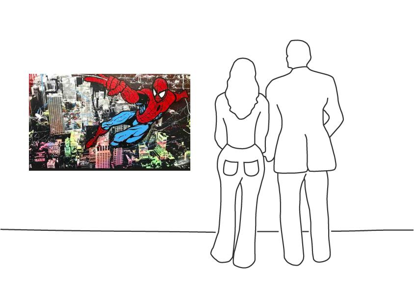 """Michel Friess """"Spiderman over NY"""""""