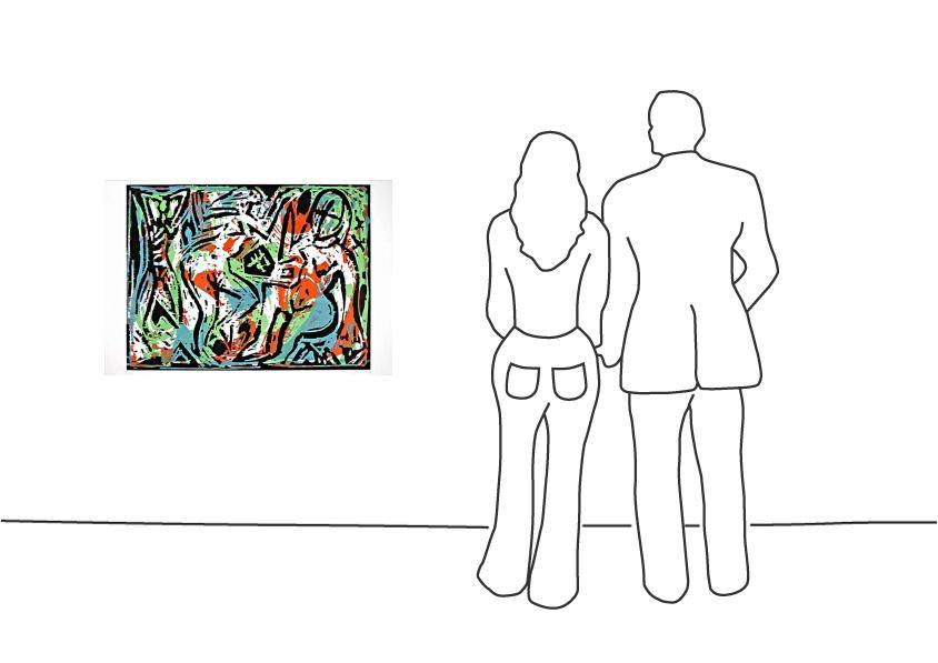 """A. R. Penck """"Ohne Titel (1)"""""""