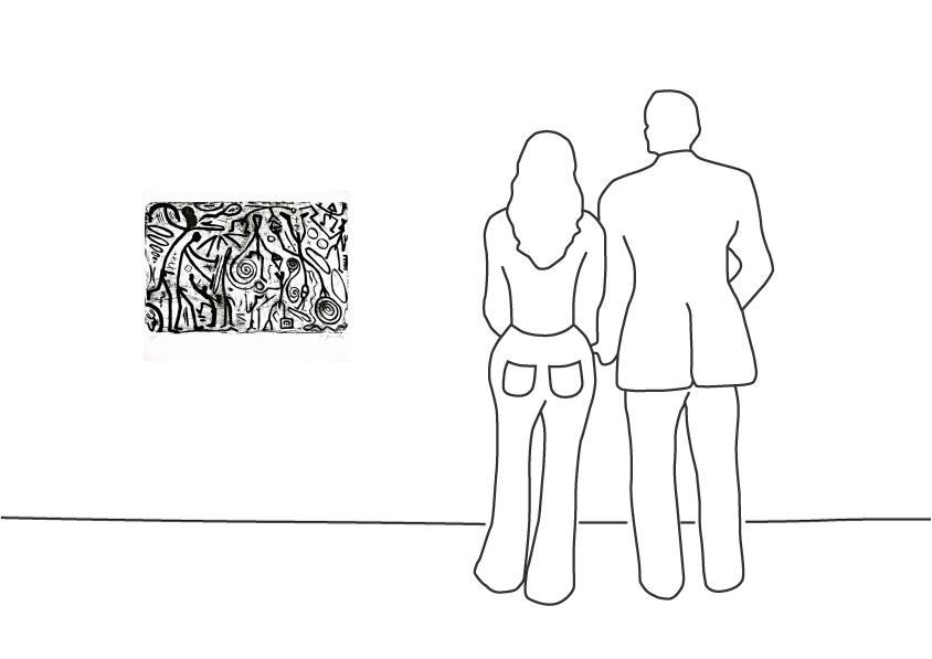 """A. R. Penck """"Ohne Titel (3)"""""""