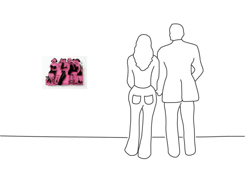 """David Gerstein """"Bar Series - On The Bar (pink)"""""""