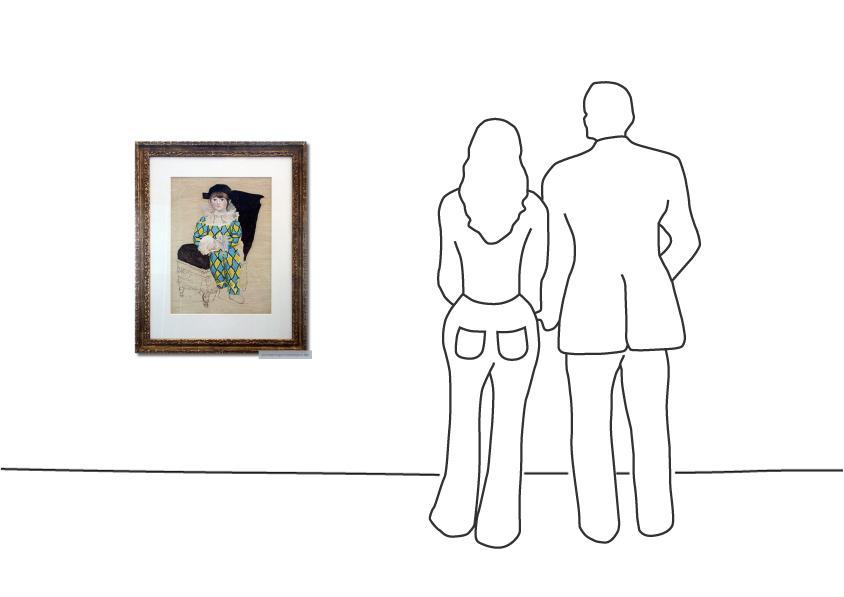 """Pablo Picasso """"Paul en Arlequin"""""""