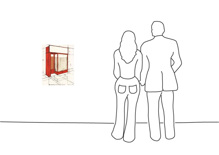 """Christo """"Red Store Front"""""""