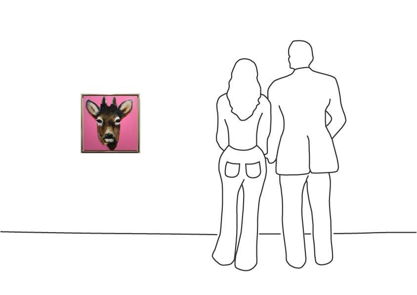 "Diverse Künstler ""Christiane Stock – Rehbock 50 x 50 cm """