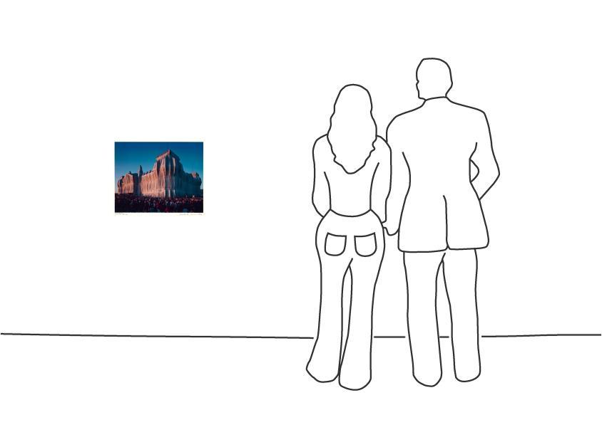"Christo ""Reichstag Mappe I, 20 Uhr"""