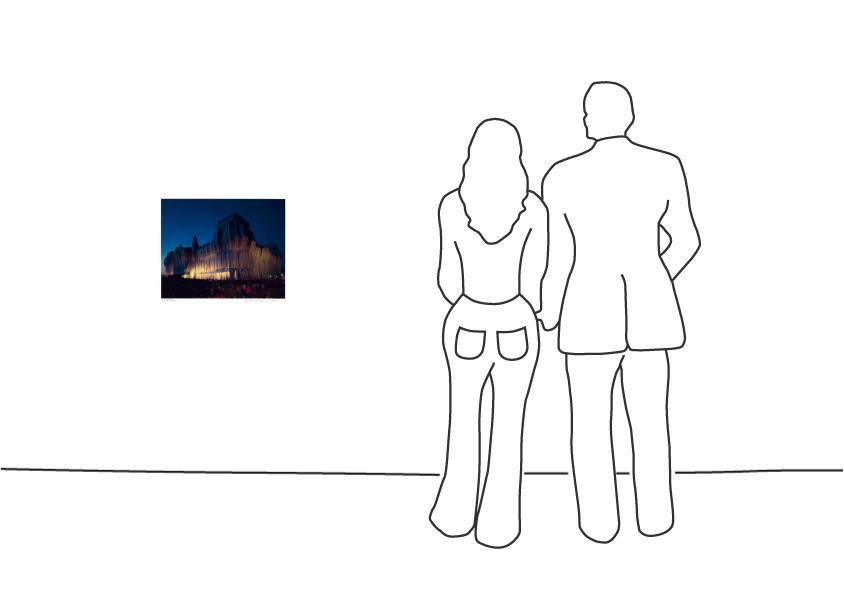 "Christo ""Reichstag Mappe I, 22 Uhr"""