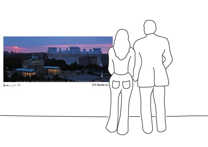 """Christo """"Reichstag Sonnenuntergang"""""""