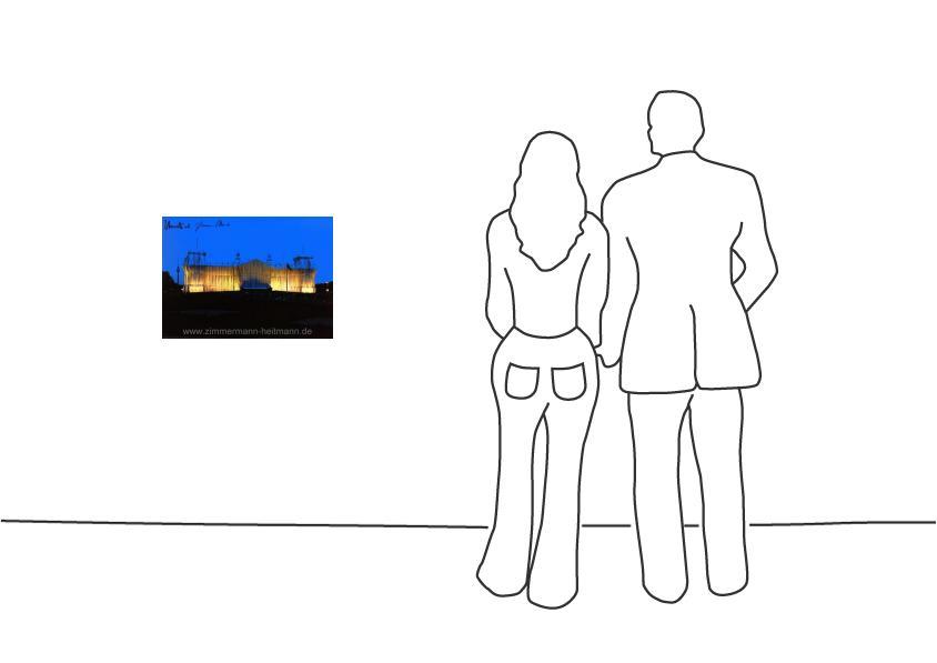 """Christo """"Reichstag Vorderseite nachts"""""""