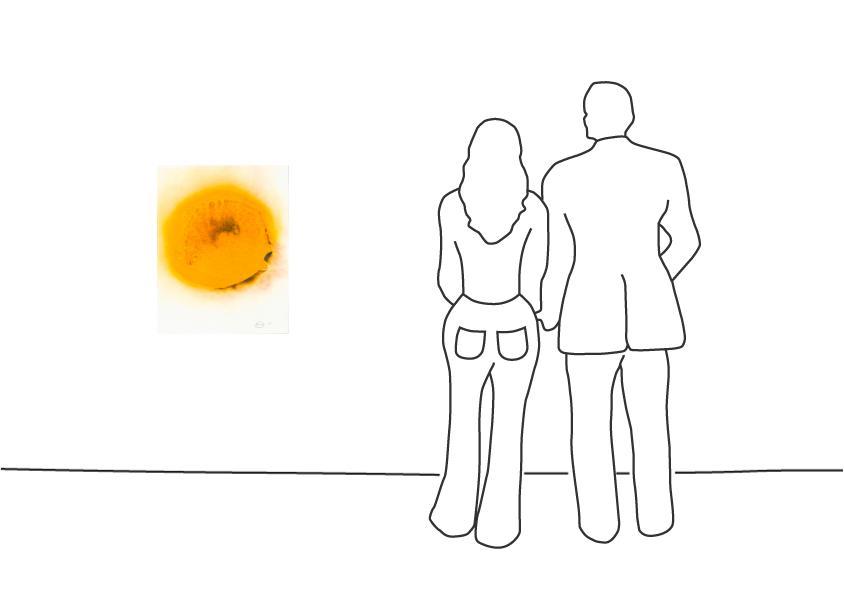 """Otto Piene """"Sonnenflecken - gerahmt"""""""