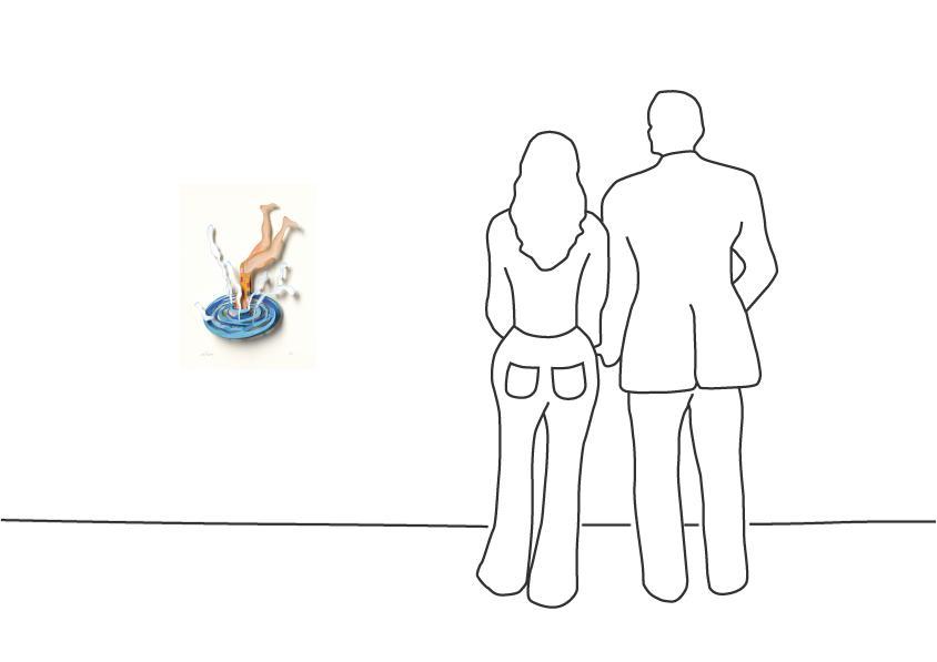 """David Gerstein """"Splash (Papercut)"""""""