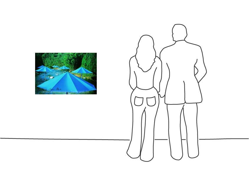 "Christo ""Umbrellas Blau Nr. 16 (1991)"""