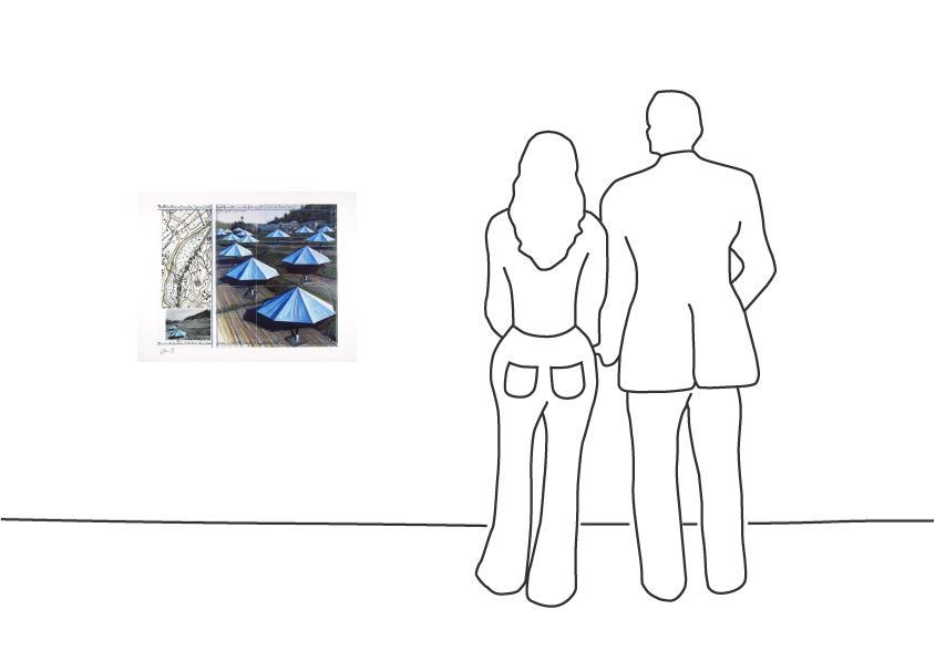 "Christo ""Umbrellas Blue II"""