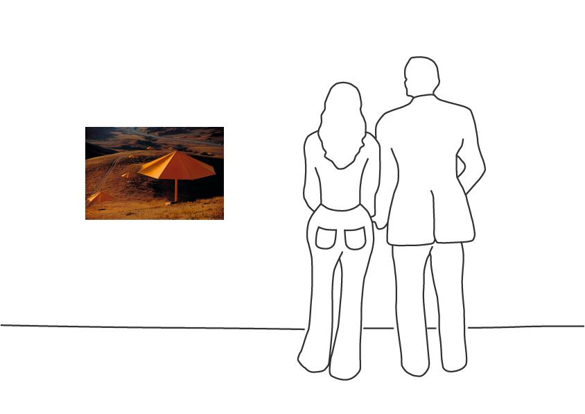 "Christo ""Umbrellas Yellow (1984-1991) """