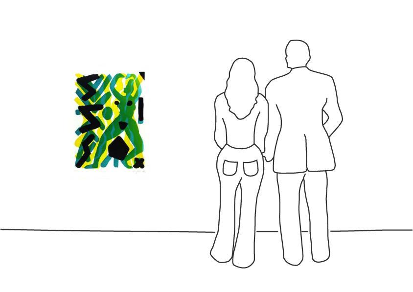"""A. R. Penck """"Vision (Grün/Gelb) III"""""""