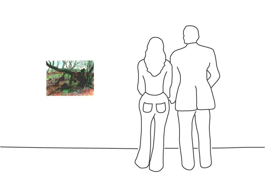 """Günter Grass """"Waldlandschaft auf Moen"""""""