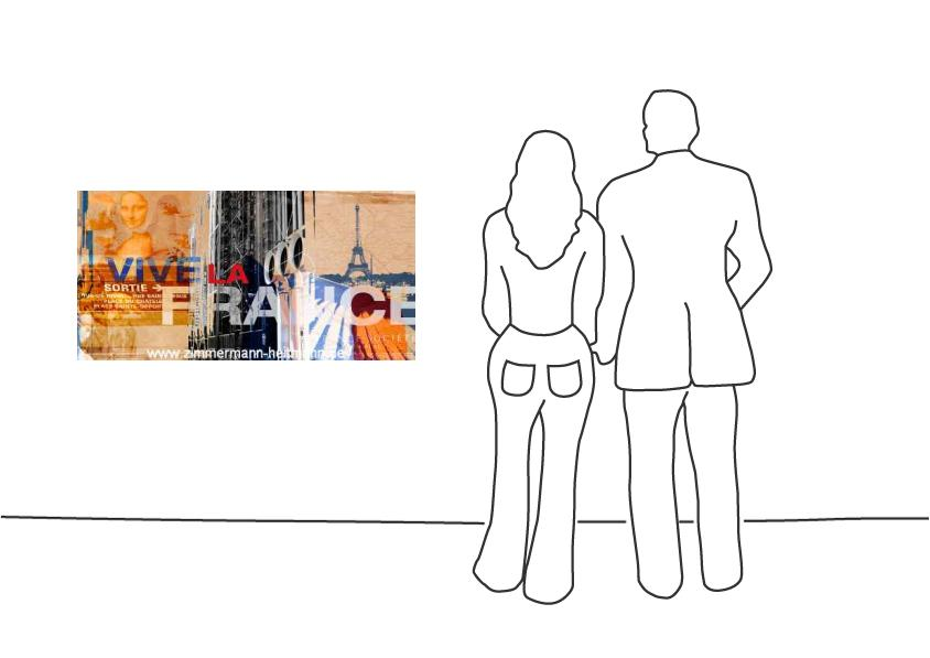 """Fritz Art """"Collage Frankreich"""""""