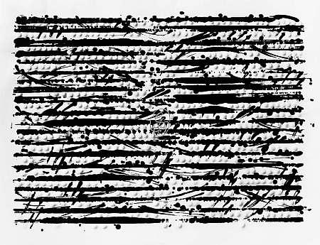 Günther Uecker - Optische Partitur - Mozart