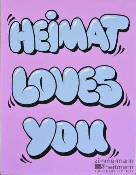 "Stefan Strumbel ""Heimat Loves You (Bubble)"""