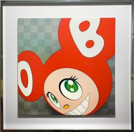 "Takashi Murakami ""And then Red – gerahmt"""