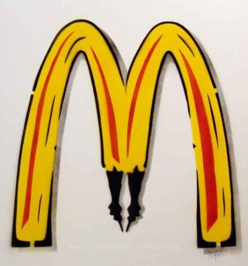 "Thomas Baumgärtel ""McDonalds Metamorphose"""