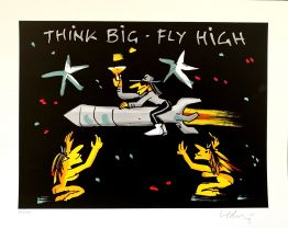 "Udo Lindenberg ""Think Big Fly High Siebdruck"""